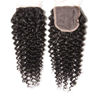 YIROO Hair Jerry Curly 4*4 Lace Closure 10-20 inch 100% Virgin Human Hair Closure