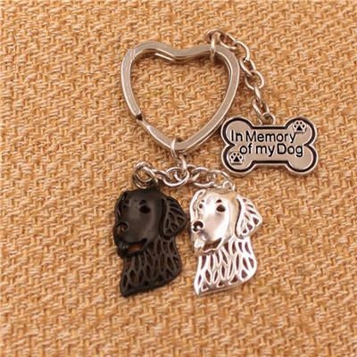 Golden Retriever Dog Pendant Keychain - boopetclub