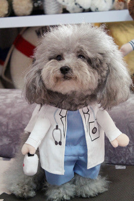 Doctor Suit Uniform Pet Costume, Dog and Cat Clothes, Dog Halloween Costume - boopetclub