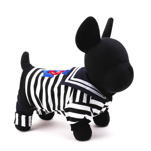 Sailor Stripe Pet Costume, Dog and Cat Clothes - boopetclub