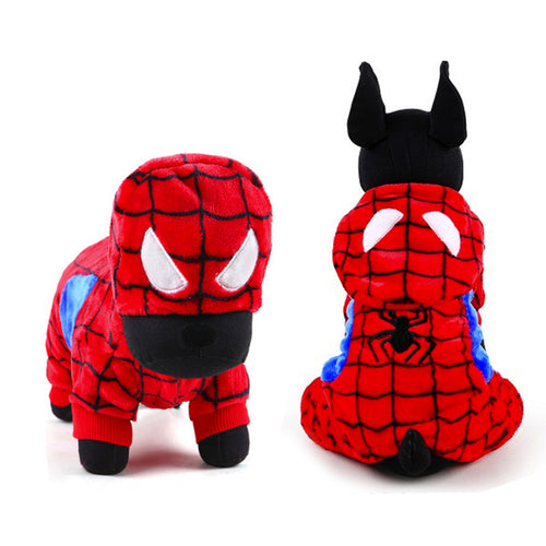 Spiderman Pet Costume, Dog and Cat Clothes - boopetclub