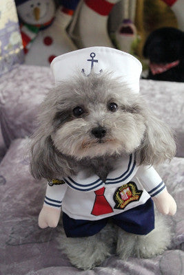 Sailor Pet Costume, Dog and Cat Clothes, Dog Halloween Costume - boopetclub
