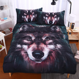 Wolf Dog Bedding Set (3 Pieces)