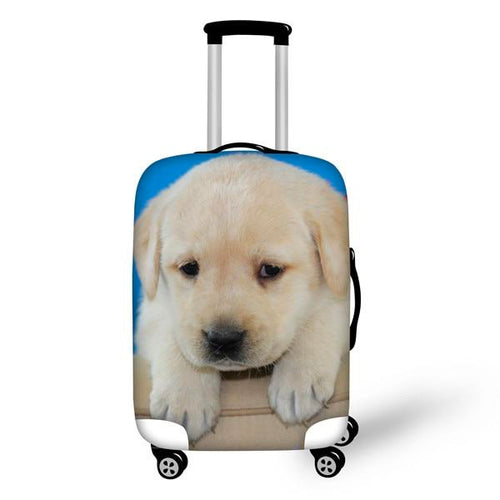 "Labrador Retriever Travel Luggage Cover, Suitcase Protector 18""-30"" - boopetclub"