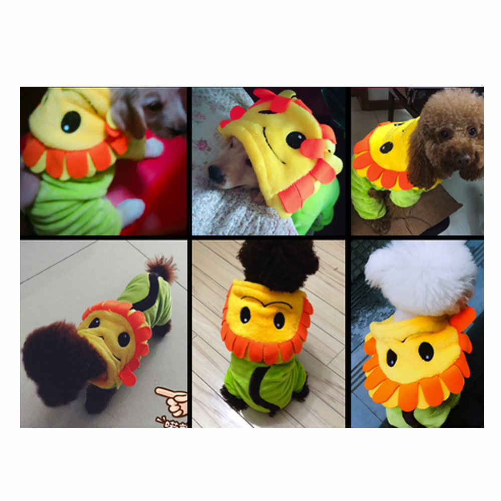Sunflower Pet Costume, Dog and Cat Clothes - boopetclub