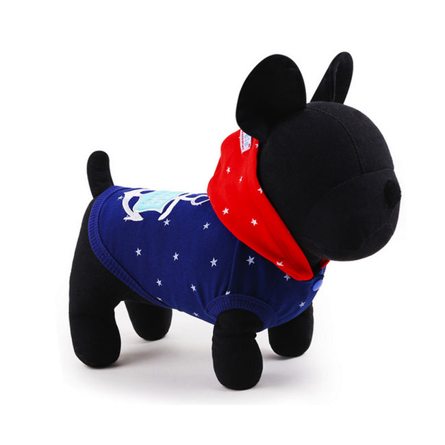 Navy Anchor Pet Clothes, Dog and Cat Hoodie - boopetclub