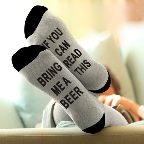 If you can read this Bring me a Beer Socks - boopetclub