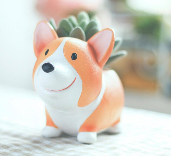 Resin Corgi Flower Pot - boopetclub