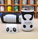 Owl Panda Stainless Steel Tumbler Vacuum Bottle Thermos Water Bottle - boopetclub