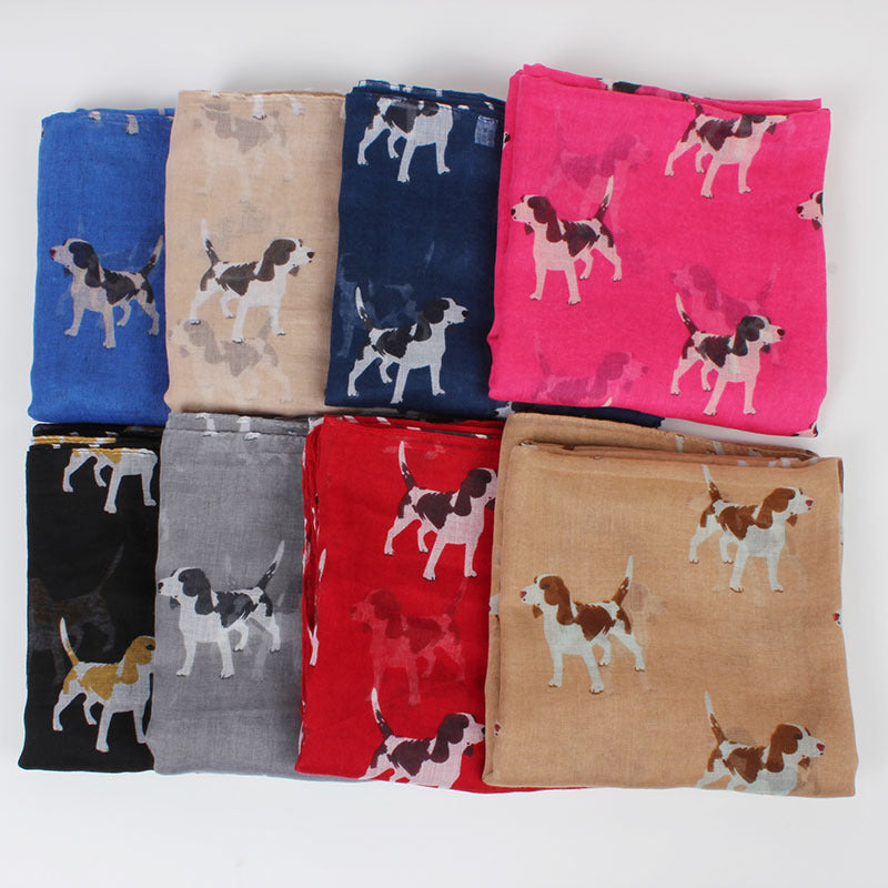 Beagle Dog Scarf, Soft Scarves - boopetclub