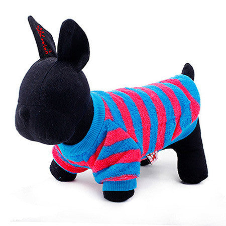 Striped Pet Shirt, Dog and Cat Clothes - boopetclub