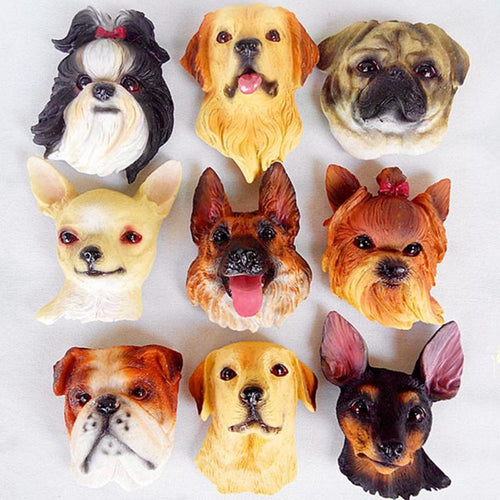 1 piece Dog Breed Animal Fridge Refrigerator Magnet Home Decor - 24 Breeds Available - boopetclub