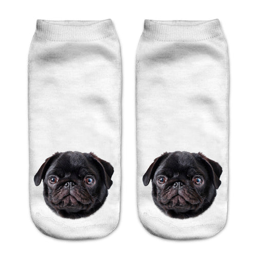 Black Pug Dog Women Socks - boopetclub