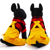 Plaid Pet Jumpsuit, Dog and Cat Clothes - boopetclub