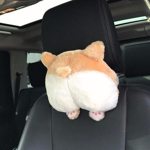 Corgi Butt Car Neck Pillow - boopetclub