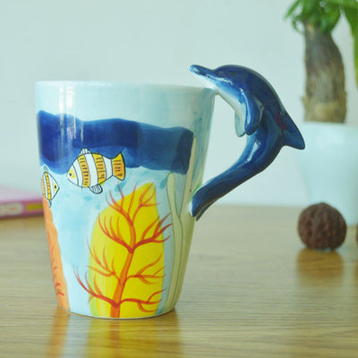 Animal Ceramic Mug (Giraffe/Seahorse/Dolphin/Squid/Chimpanzee/Cow/Horse/Elephant/Dog) - boopetclub
