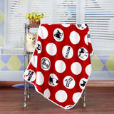 3 Colors Polka Dot French Bulldog Fleece Blanket - boopetclub
