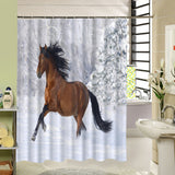 Horse Shower Curtain, Animal Bathroom Decor - boopetclub