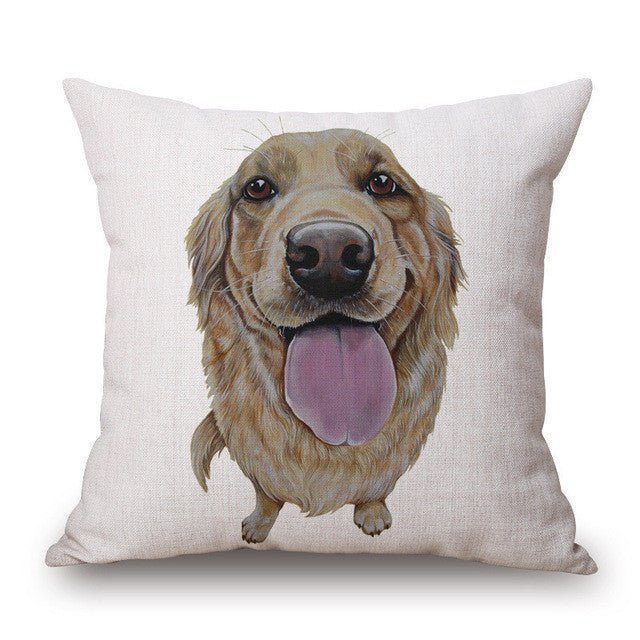 Dog Breed Pillow Case Cavalier Yorkie Pug Pomeranian Labrador Basset Hound Pillowcase - boopetclub