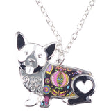 Corgi Enamel Necklace - boopetclub