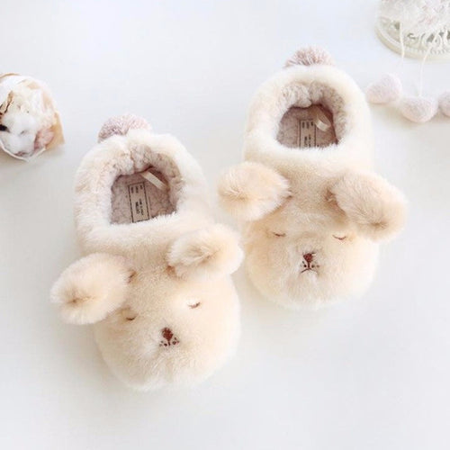 Cute Fluffy Dog Slippers Shoes - boopetclub