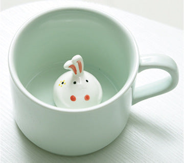 Cartoon Animal Ceramic Coffee Mug - boopetclub