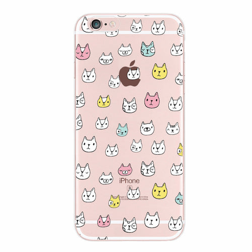 Small Cat Face iPhone Cases / Samsung Galaxy Cases