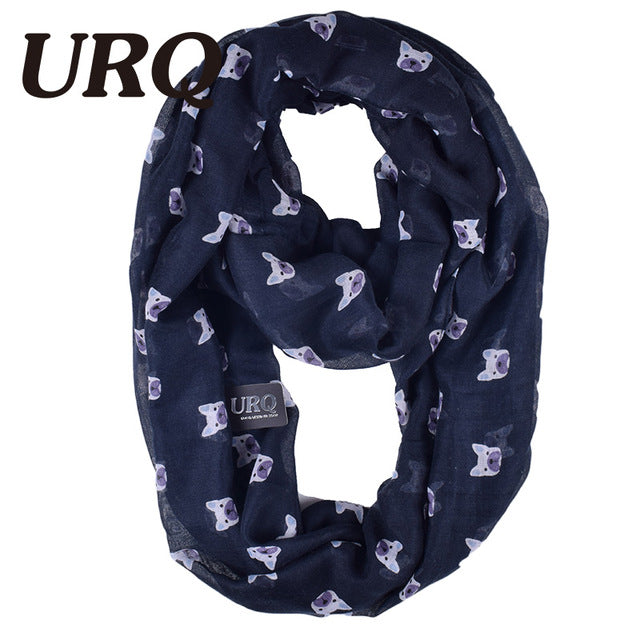 French Bulldog Frenchie Dog Scarf, Soft Scarves - boopetclub