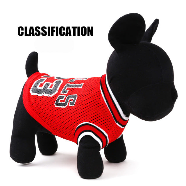 Summer Sport Basketball Pet Shirt Dog and Cat Clothes - boopetclub