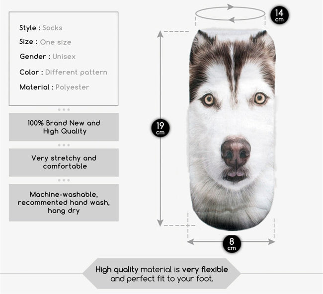 Siberian Husky Dog Women Socks - boopetclub