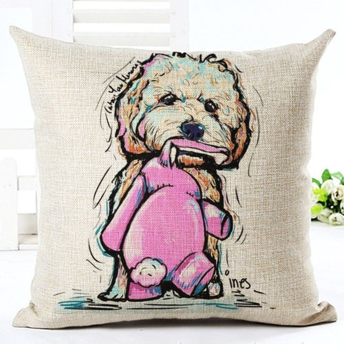 Goldendoodle Dog Cushion Pillow Case / Cover - boopetclub