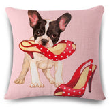 French Bulldog Cat Pug Chihuahua Vintage Pillow Case - boopetclub