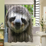 Sloth Shower Curtain, Animal Bathroom Decor