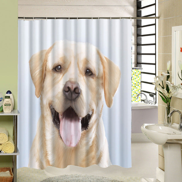 . Labrador Retriever Shower Curtain  Dog Bathroom Decor
