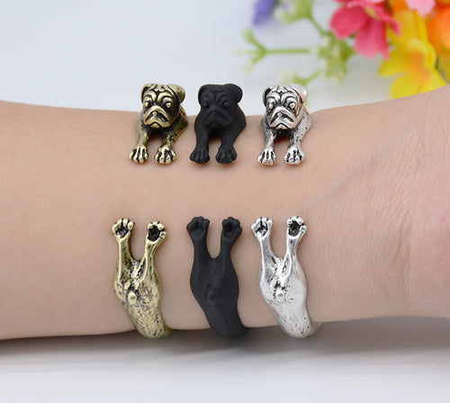 Pug Dog Adjustable Bangle Bracelet - boopetclub