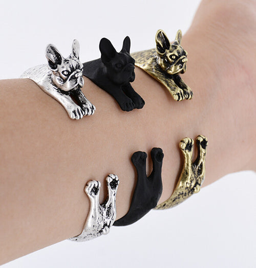 French Bulldog Bangle Frenchie Dog Adjustable Bracelet - boopetclub