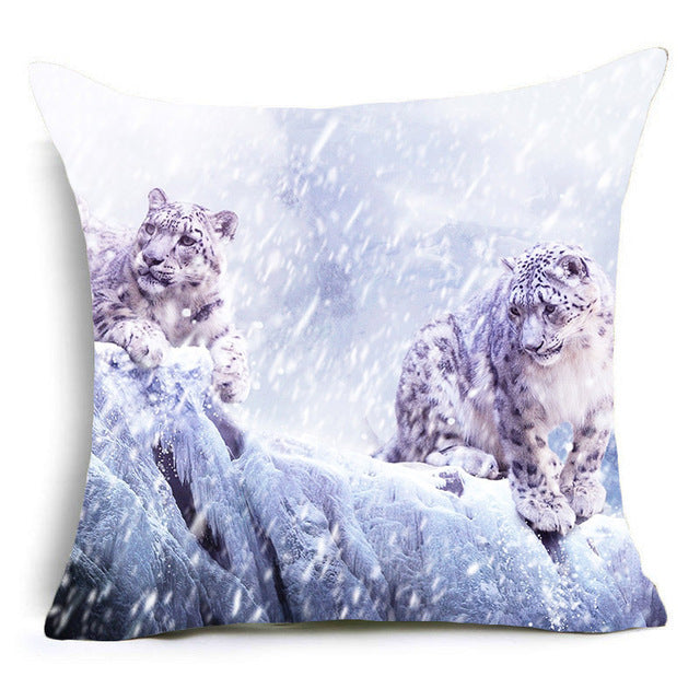 Pug / Horse / Penguin / Wolf / Tiger / Dog Pillowcase Animal Cushion Pillow Case - boopetclub