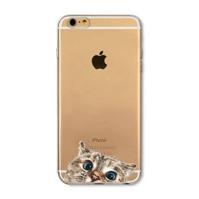 Cat Clear iPhone Cases - boopetclub