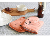 Cute Bear Dog Microwave Oven Glove BBQ Pot Mitts, Heat Insulation Mat - boopetclub