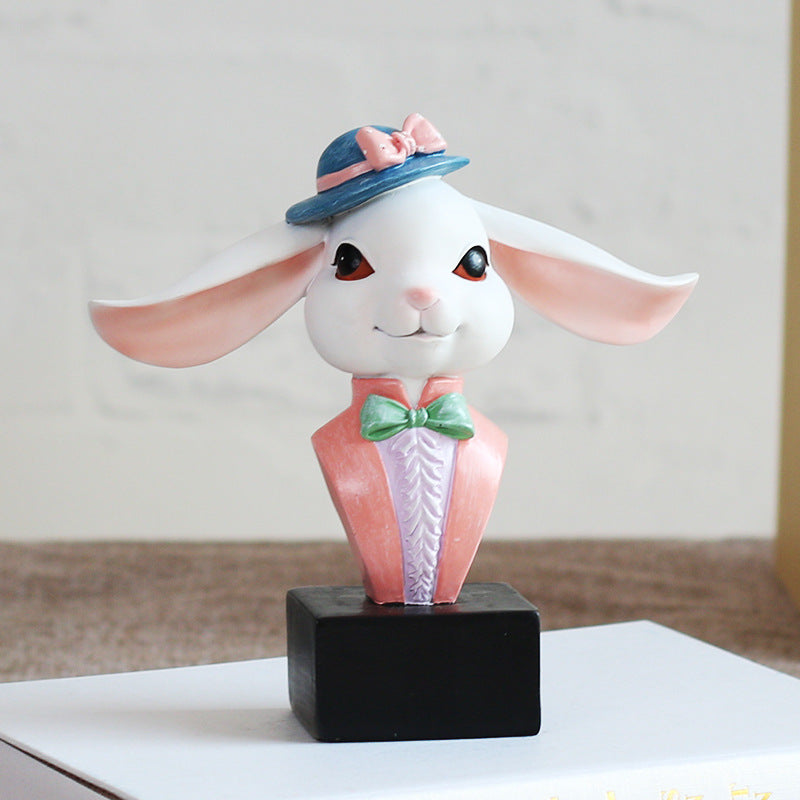Hipster Rabbit Bunny Eyeglass Holder Resin Accessories Sunglasses Stand Display - boopetclub