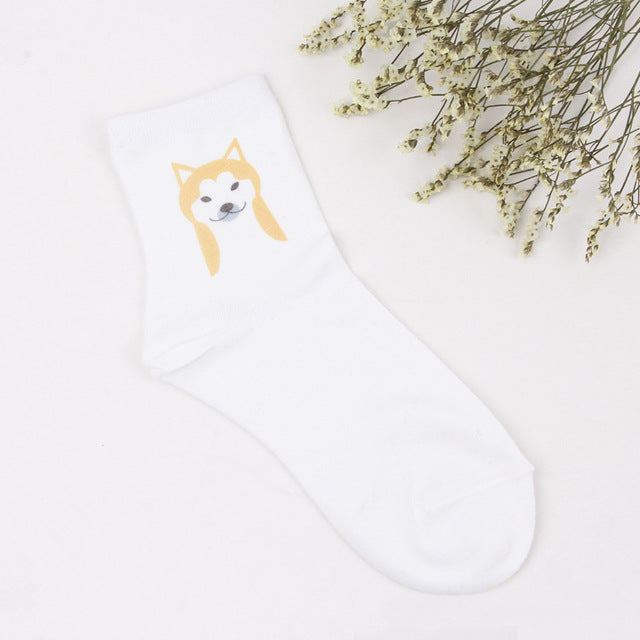 Frenchie Shiba Dalmatian Beagle Basset Hound Dog Socks - 1 pair - boopetclub