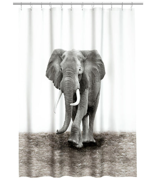 Elephant Shower Curtain, Animal Bathroom Decor - boopetclub