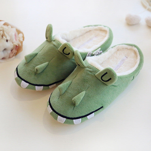 Cute Animal Lion and Crocodile Slippers Shoes - boopetclub