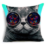 Hipster Cat Pillowcase Cat Cushion Pillow Case - boopetclub