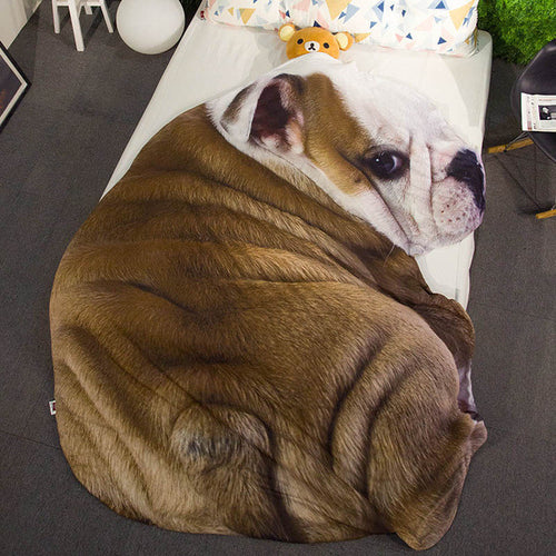 Bulldog Dog Blanket Bedding - boopetclub