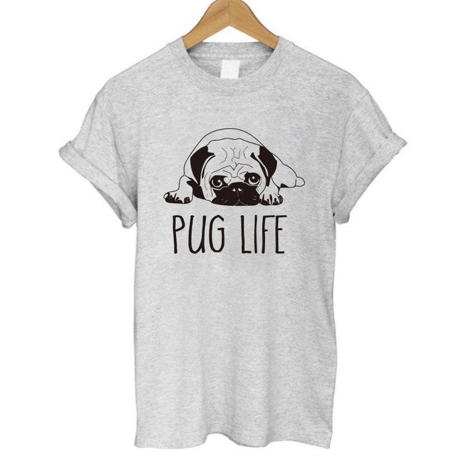 Pug Life Dog Women T-shirt - boopetclub