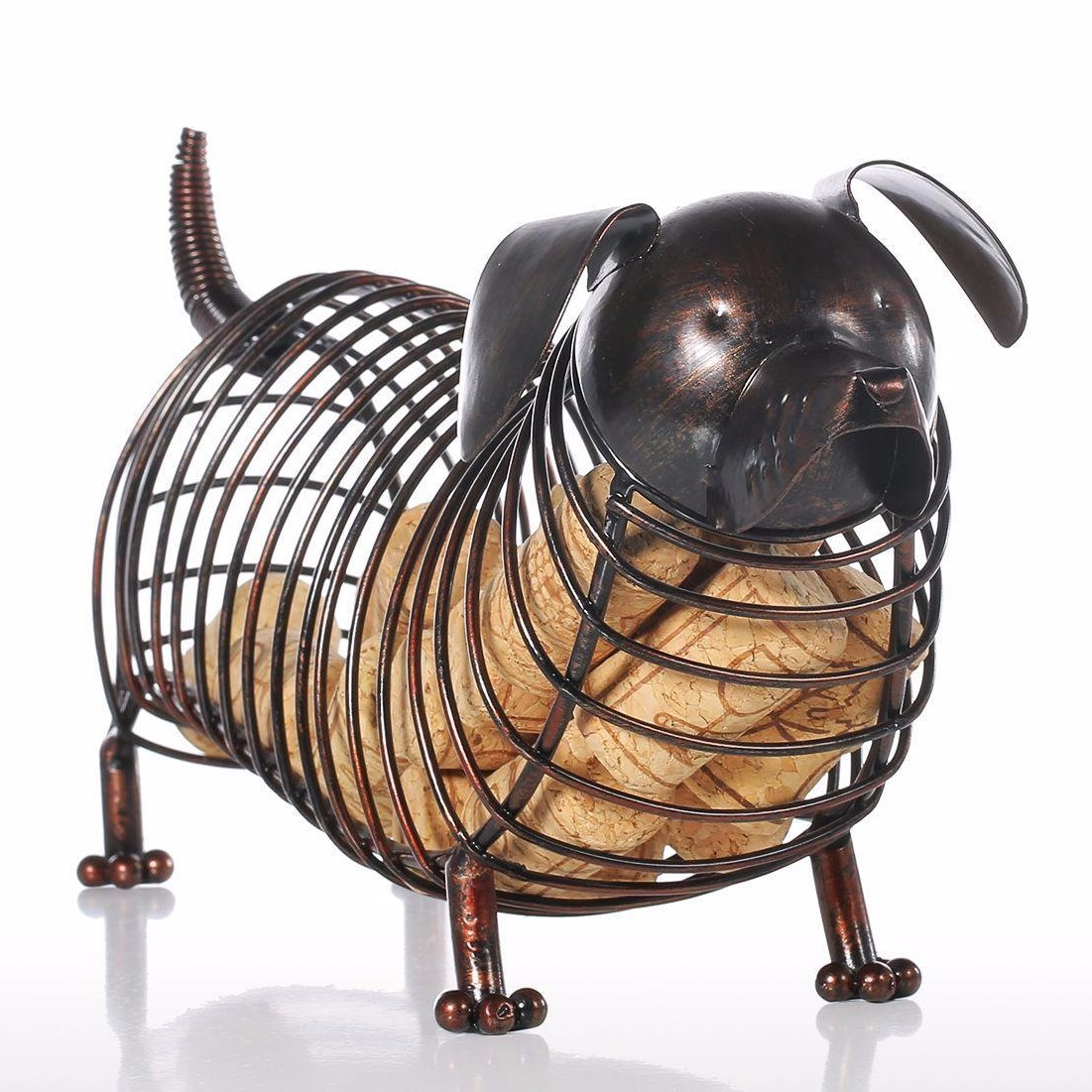 Metal Dachshund Wine Cork Container Dog Home Decoration - boopetclub