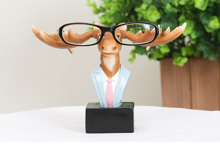 Hipster Elk Eyeglass Holder Resin Accessories Sunglasses Stand Display - boopetclub