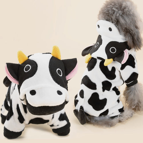 Cow Pet Costume, Dog and Cat Clothes, Dog Halloween Costume - boopetclub