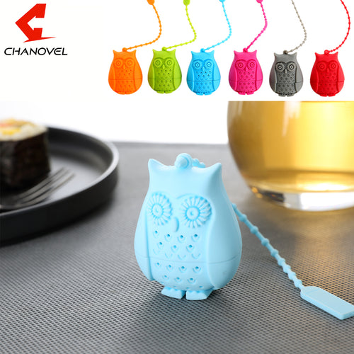 Owl Silicone Tea Infuser Animal Tea Strainer - boopetclub